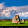 Europe - UK - United Kingdom - England - Wiltshire - Avebury Megalithic Stone Circle - UNESCO World Heritage Site - One of most famous prehistoric monument - Ancient circle of megalithic stones