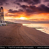 Europe - UK - United Kingdom - England - Sussex - Brighton - One of first of great seaside resorts of Europe - Brighton vibrant seafront on shores of Atlantic Ocean