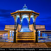 Europe - UK - United Kingdom - England - Sussex - Brighton - One of first of great seaside resorts of Europe - Brighton Bandstand located on Brighton's vibrant seafront at Dusk - Dawn - Twilight - Blue Hour