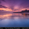 Europe - UK - United Kingdom - England - Northumberland - Bamburgh Castle - Iconic historical castle on one of most beautiful stretches of Northumberland coastline