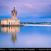 Europe - UK - England - East Midlands - County of Rutland - Normanton Church on eastern shore of Rutland Water reservoir - St Matthew's Church - Grade II listed building built in classical style