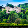Europe - UK - England - Somerset - Dunster Castle, former motte and bailey castle located in village of Dunster