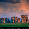 Europe - UK - United Kingdom - England - Wiltshire - Stonehenge Megalithic Stone Circle - UNESCO World Heritage Site - Most famous prehistoric monument - Ancient circle of megalithic stones