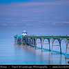 Europe - UK - United Kingdom - England - Somerset - Clevedon - Victorian seaside town - Clevedon beautiful pier with delicate arches - English Heritage