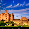 Europe - UK - United Kingdom - England - Northumberland - Warkworth - Warkworth Castle - Cuined medieval Castle built on loop of River Coquet