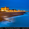 Europe - UK - United Kingdom - England - Sussex - Eastbourne - Popular seaside resorts - Seafront at Dusk - Dawn - Night - Twilight - Blue Hour