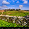 Europe - UK - United Kingdom - England - Northumberland - Hadrian's Wall - Vallum Aelium - Aelian Wall - Defensive fortification in Roman Britain - UNESCO World Heritage Site - Housesteads Roman Fort
