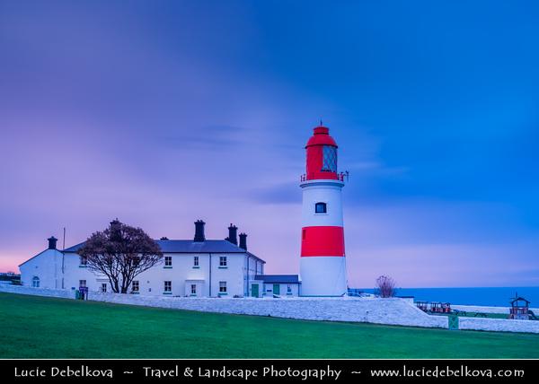 Europe - UK - United Kingdom - England - Northumberland - North East of England - Lizard Point - Souter lighthouse at Whitburn on the South Tyneside coastline