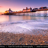 Europe - UK - United Kingdom - England - Sussex - Eastbourne - Popular seaside resorts - Eastbourne Pier - Iconic Victorian pier & Eastbourne's stunning seafront landmark at Sunrise
