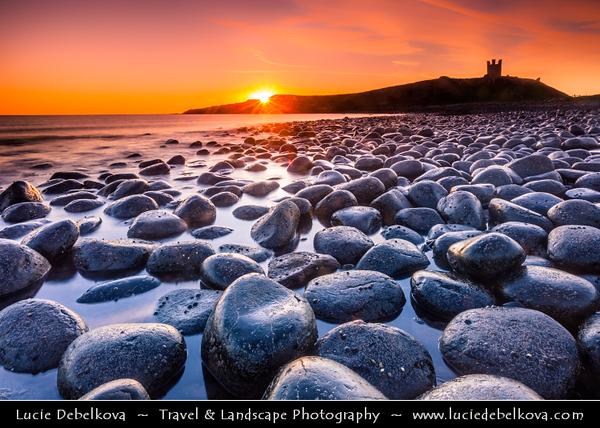 Europe - UK - United Kingdom - England - Northumberland - Dunstanburgh Castle - Iconic castle ruin on one of most beautiful stretches of Northumberland coastline