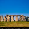 Europe - UK - United Kingdom - England - Wiltshire - Stonehenge Megalithic Stone Circle - UNESCO World Heritage Site - Most famous prehistoric monument - Ancient circle of megalithic stones