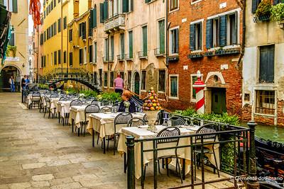 Canaside restaurant in Venice, Italy