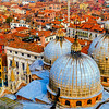 View from San Marco Campanile, bell tower of St. Mark's Basilica, Venice, Italy