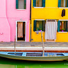 Brightly Coloured Houses in Burano, Venice, Italy