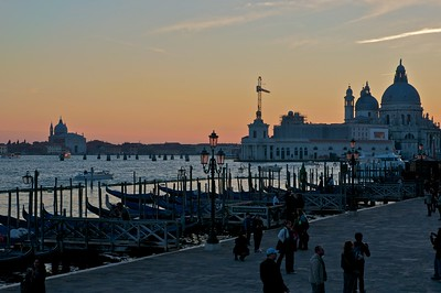 The sunset over the Venice lagoon