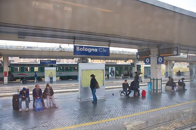 Passing through Bologna on our way to Venice by train