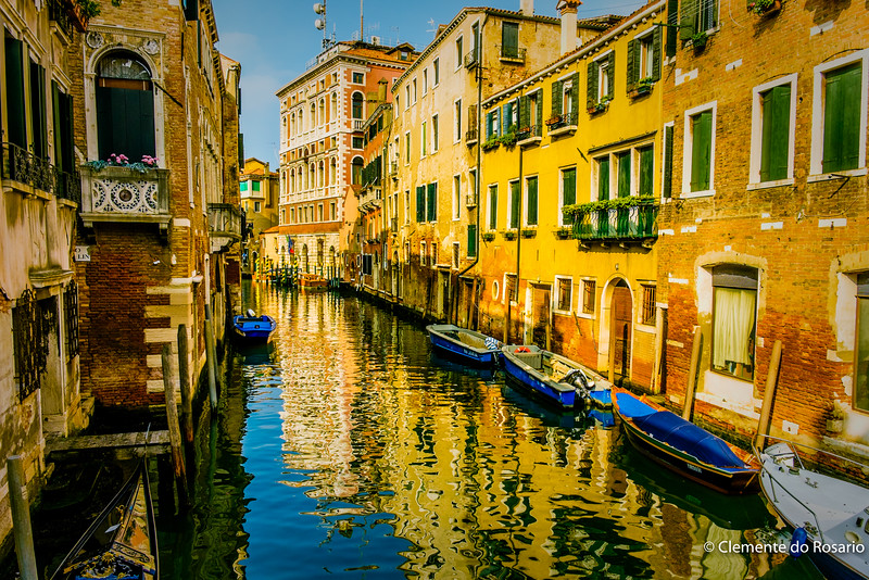 Venetian Canal Reflections