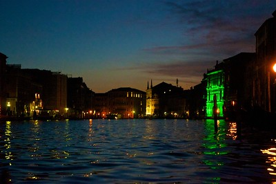 Dusk on the Grand Canal in Venice