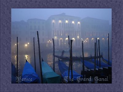 Fog on the Grand Canal, Venice