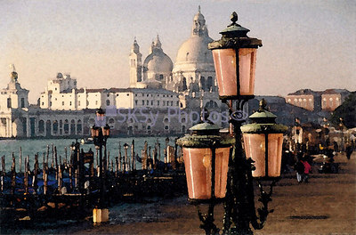 Watercolor view from San Marco