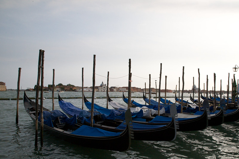 Lined up Gondolas