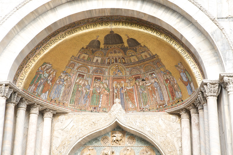 Close-up of the mosaic on St Marco's Basilica