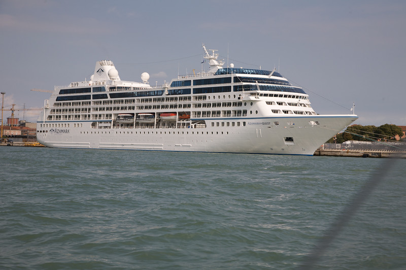 Cruise Liner docked, to take its tourist to Venice