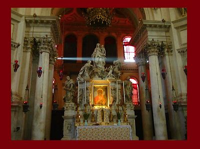 The altar of Santa Maria della Salute, Venice
