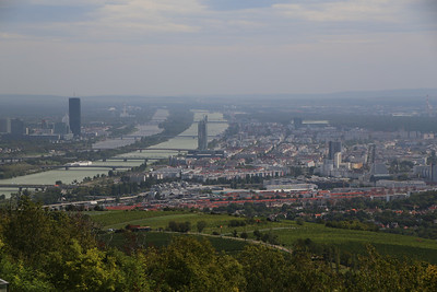 View of Vienna and the Danube from Kahlenberg