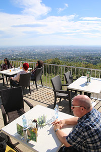 Lunchtime in Kahlenberg, overlooking Vienna - What a view!