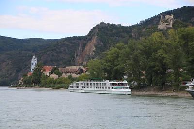 Sailing past Durnstein