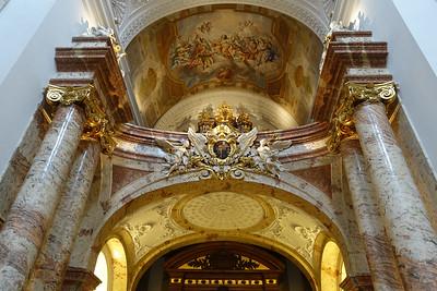 Inside the Karlskirche