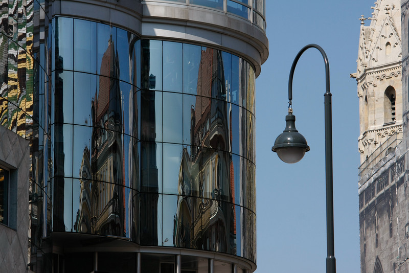 St. Stephens cathedral, reflected