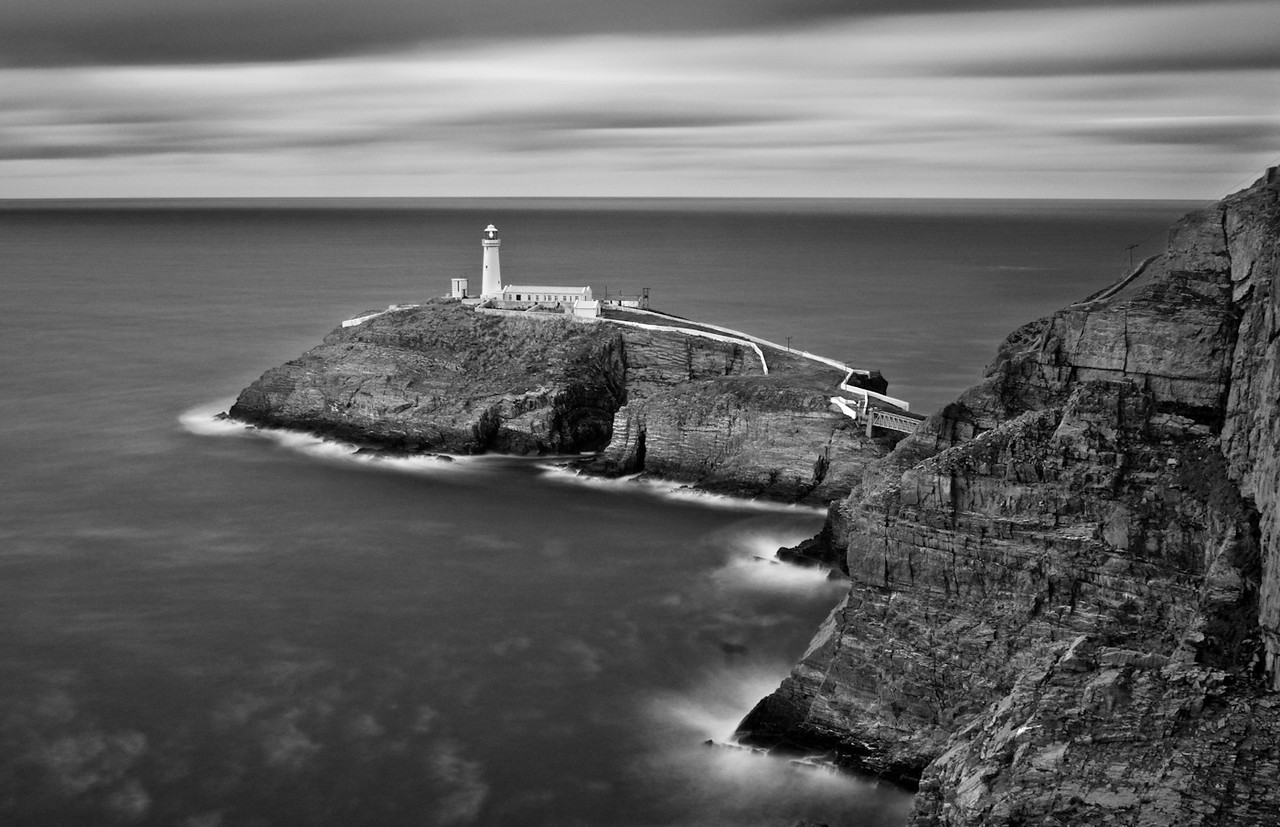 A view toward South Stack lighthouse