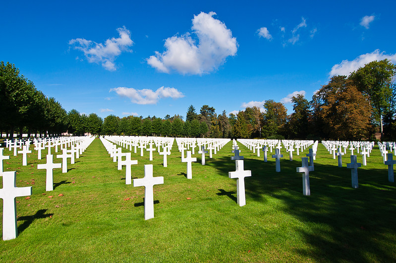 …that present beautiful geometry.<br /> <br /> There are about 2400 men buried; 250 are unknown. They are from every one of the then 48 states as well as the District of Columbia.<br /> <br /> One thousand sixty names of those who were never found are inscribed on the chapel walls.