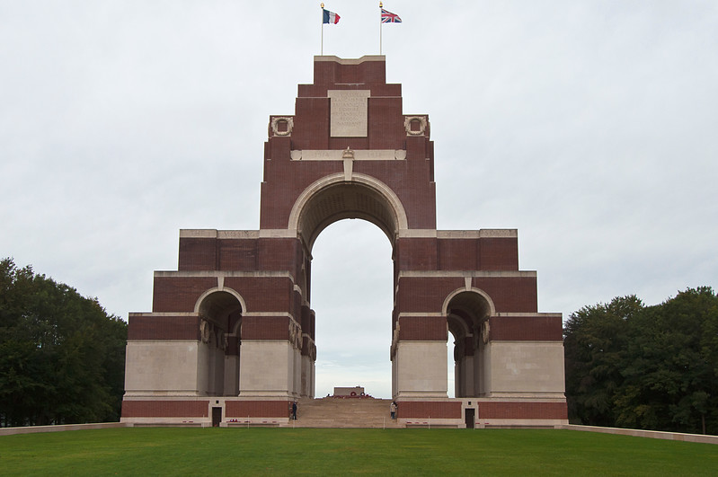 The original village of Thiepval was totally destroyed during the War when it was a German stronghold.<br />  <br /> The Thiepval Memorial to the Missing of the Somme honors the men who died in the Battle of the Somme and who have no known grave.<br /> <br /> The work of the architect Sir Edwin Lutyens. this monument of brick and stone is 45 meters (50 yards) high. Sixteen pillars are engraved with the names of 73,367 British and Commonwealth soldiers who fell during the Battle of the Somme between July and November 1916 and who have no known grave.