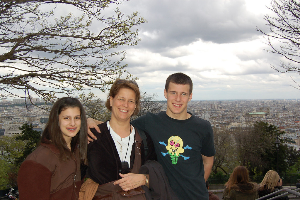 We got someone to take our picture at Sacre Couer