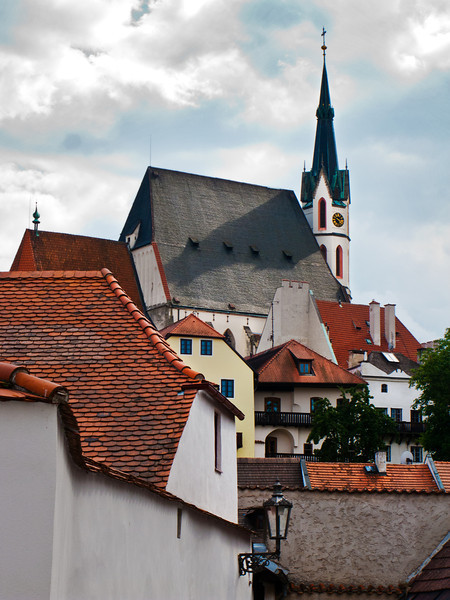 Roof Tops in Cesky Krumlov, Chech Republic.