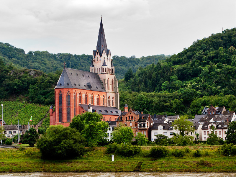 Red Church on the Rhine, Germany