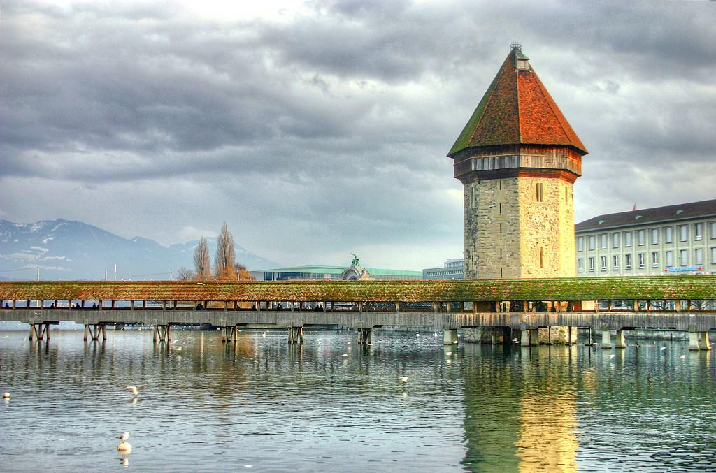 Lucerene Bridge HDR