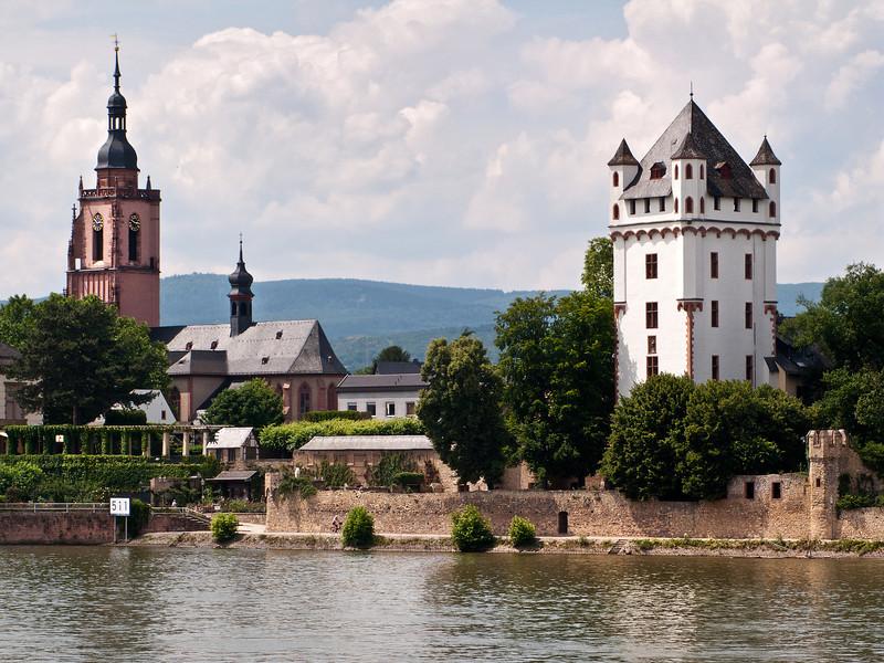 Church & Tower on the Rhine, Germany.