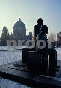 The Marx/Engle statue in former East Berlin, Germany.