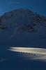 Skiers on the Finsteraarhorn Glacier, Swiss Alps.