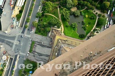Looking straight down from the top of the Eiffel Tower Paris, France