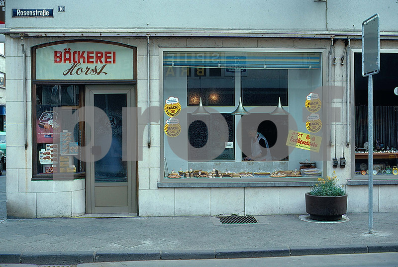German bakery store front s