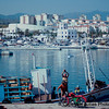 A drink of wine - The Harbor - Estepona Spain on the Costa del Sol - Taken with a Nikon EL with a 75-150 Nikkor Zoom Lens - Kodachrome 64 ASA film - scanned with a Plustek OpticFilm 7200 slide