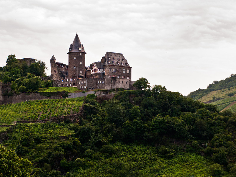 Stahleck Castle on the Rhine, Germany.