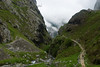 A thousand year old trail climbs to the remote village of Bulnes in the Picos de Europa region of Spain.