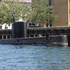 I'm told this is a privately owned submarine. The owner lives in Copenhagen and has a submarine instead of a houseboat.