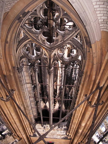 View from the inside of Cologne Cathedral's Steeple.